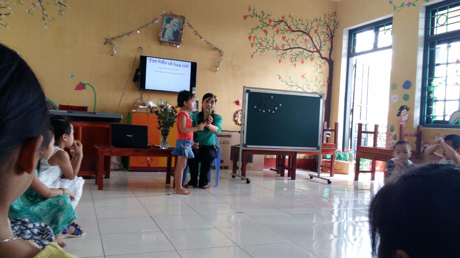 Trường mầm non tổ chức cuộc thi giáo viên giỏi cấp trường