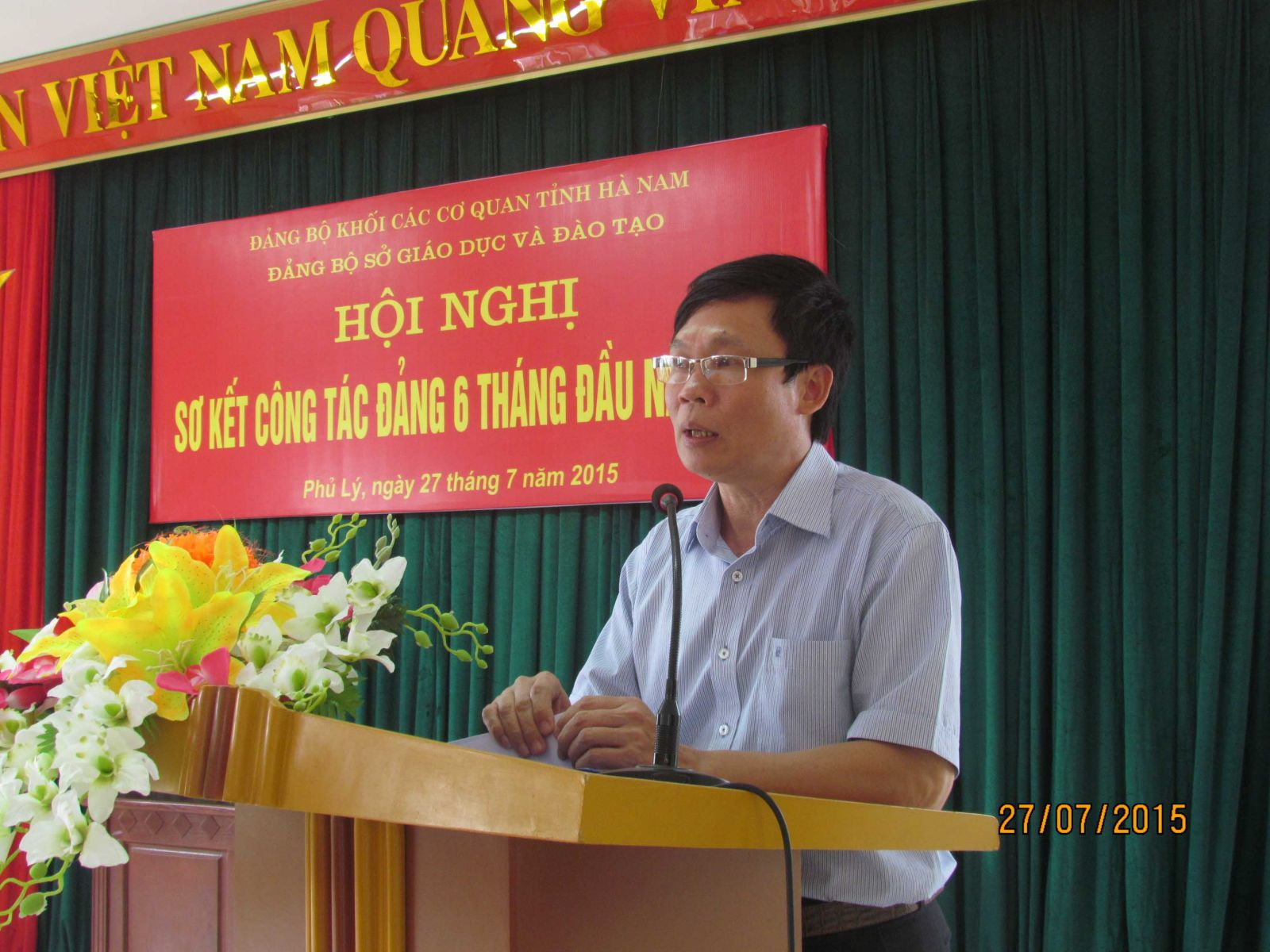 Đồng chí Nguyễn Văn Diện, Bí thư Đảng bộ chỉ đạo hội nghị