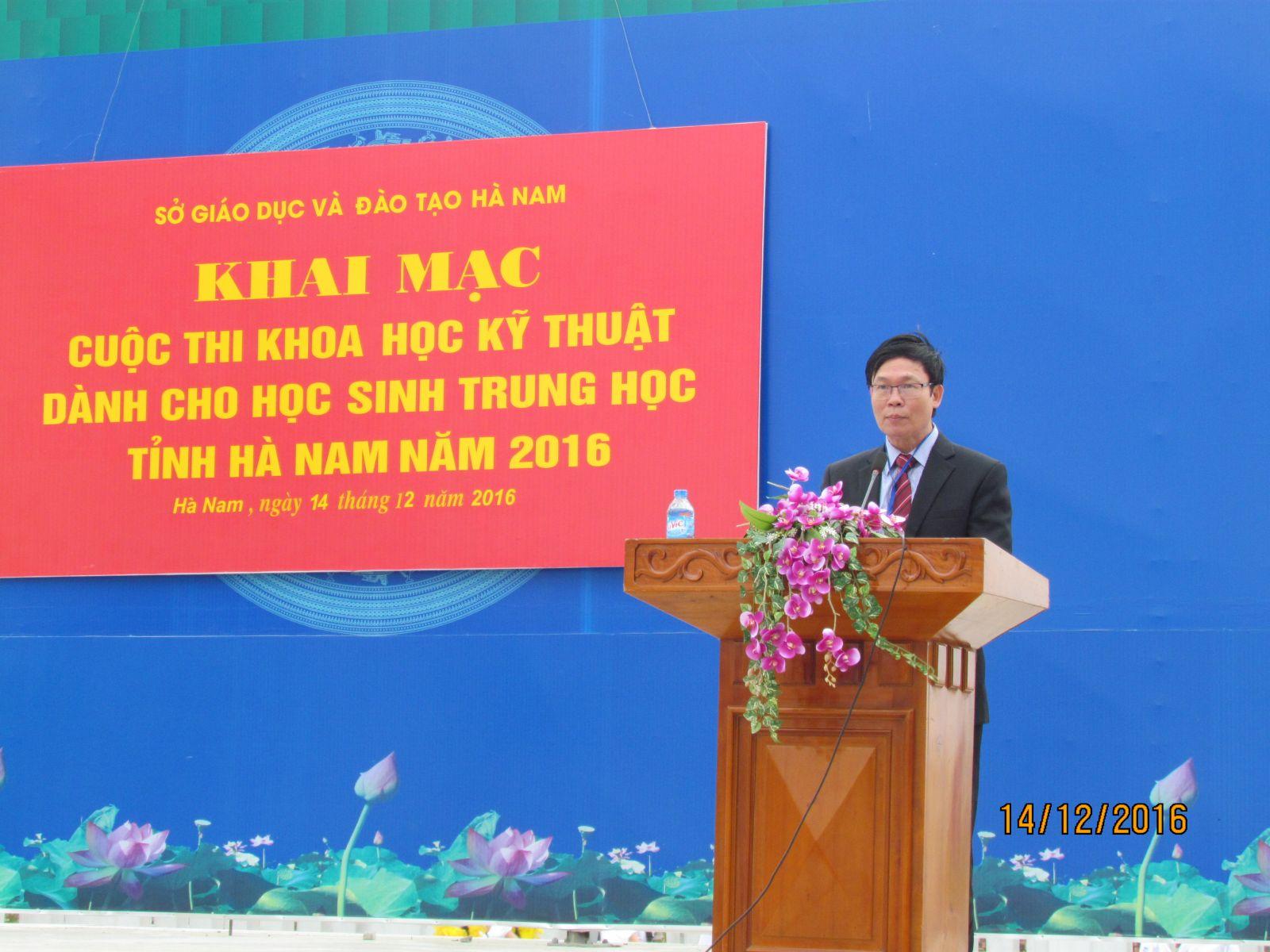 Ông Nguyễn Văn Diện, Phó giám đốc - Phó trưởng ban tổ chức hội thi phát biểu khai mạc