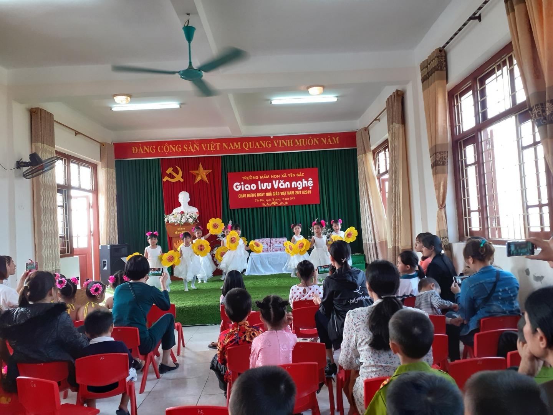 Trường Mầm non Yên Bắc (Tổ chức giao lưu văn nghệ chào mừng ngày nhà giáo Việt Nam 20/11)