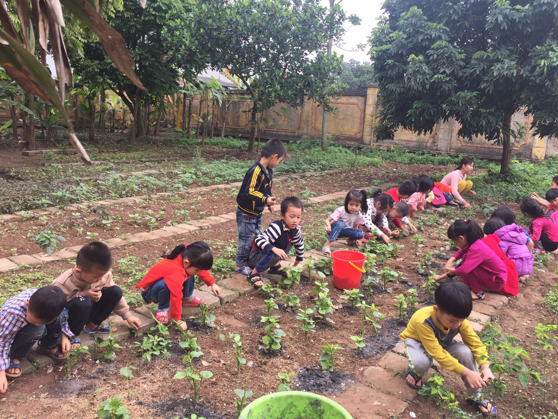 """Ngày 27, 28/12/2017, Trường MN Liêm Chung trình tổ chức cuộc thi """" xây dựng môi trường giáo dục lấy trẻ làm trung tâm""""."""