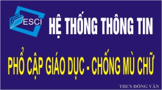 HỆ THỐNG THÔNG TIN PCGD -CMC