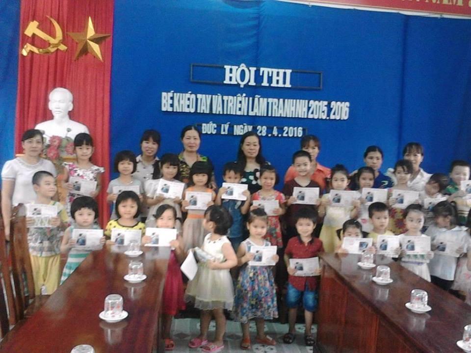 Trường MN xã Đức Lý tổ chức hội thi ' Bé khéo tay'
