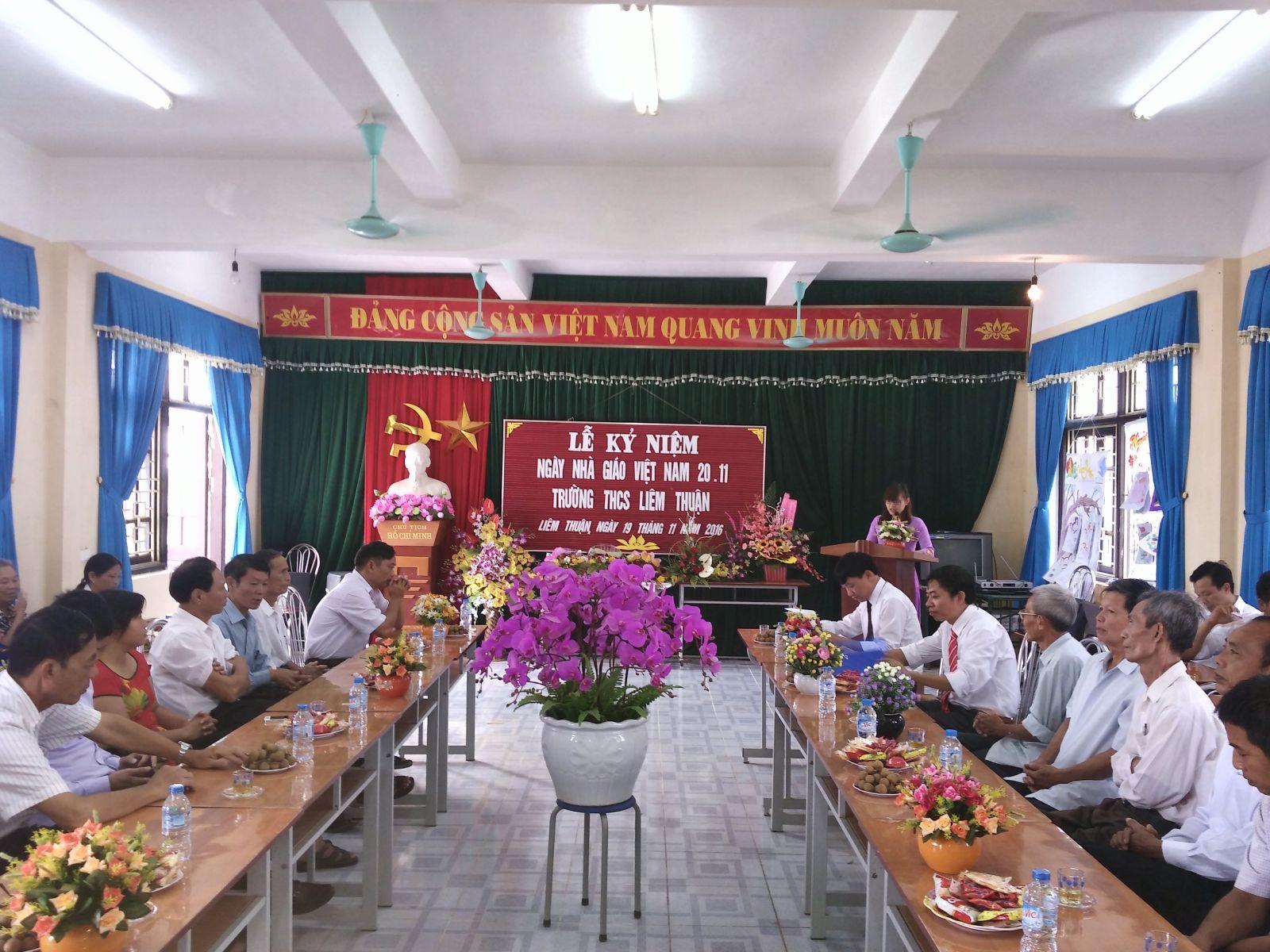Lễ kỷ niệm ngày nhà giáo Việt Nam 20.11