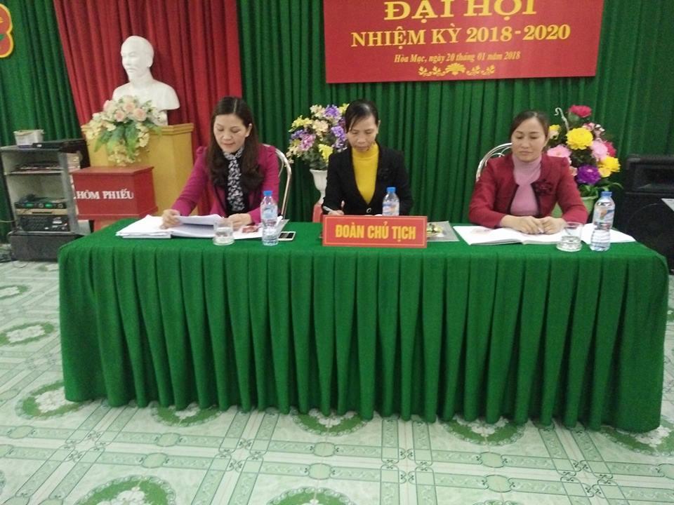 Đại hội chi bộ trường mầm non thị trấn Hòa Mạc nhiệm kỳ 2017-2020
