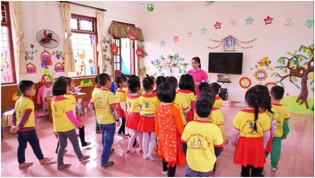 Trường mầm non Thị Trấn Hòa Mạc chuẩn bị cho hội thi  cấp tỉnh' Xây dựng môi trường giáo dục lấy trẻ làm trung tâm'
