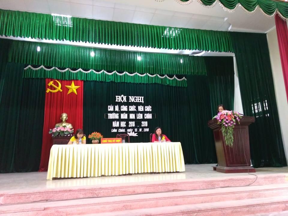 Trường mầm non Liêm Chính tổ chức Hội nghị cán bộ công chức viên chức
