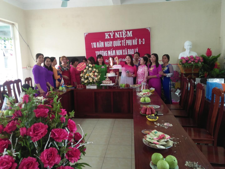Công đoàn trường mầm non xã Đạo Lý đã tổ chức kỷ niệm 110 năm ngày Quốc tế phụ nữ 8/3/2020